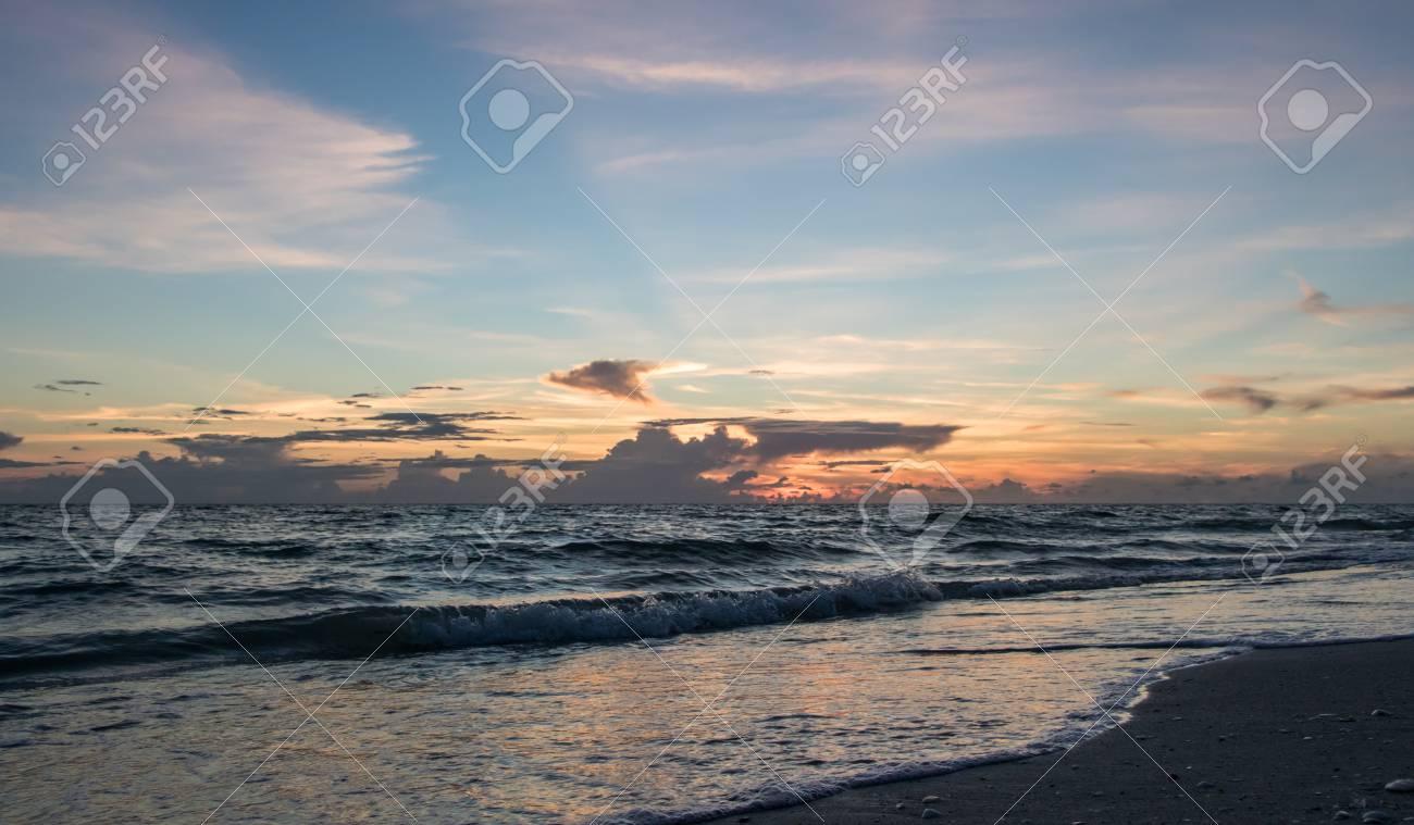 calming florida beach at