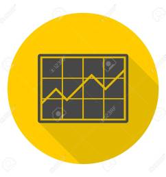 chart icon sign icon with long shadow stock vector 53961631 [ 1300 x 1300 Pixel ]