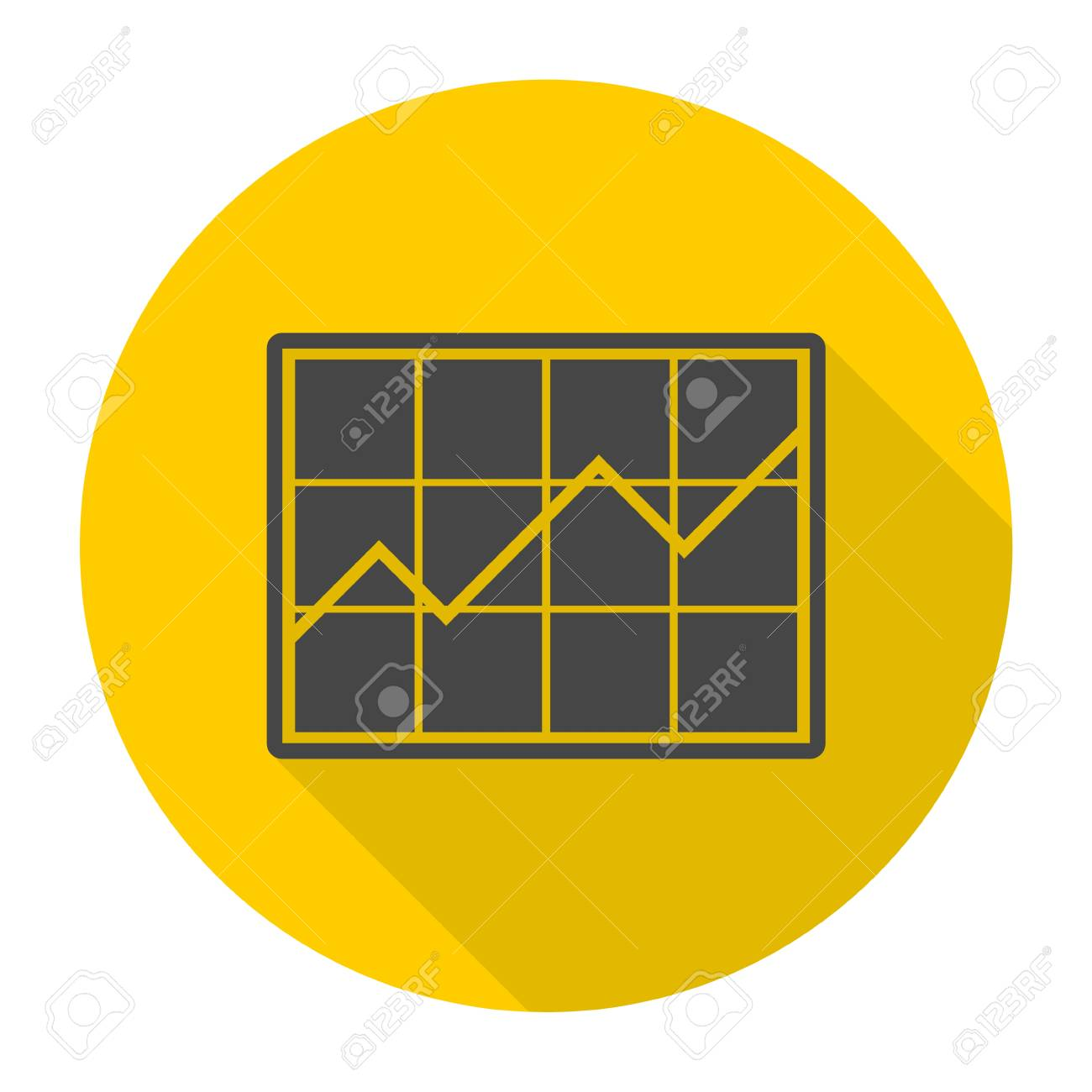 hight resolution of chart icon sign icon with long shadow stock vector 53961631
