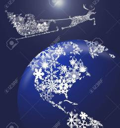 christmas in sleigh with reindeer over earth globe clipart illustration stock illustration 10871725 [ 1040 x 1300 Pixel ]