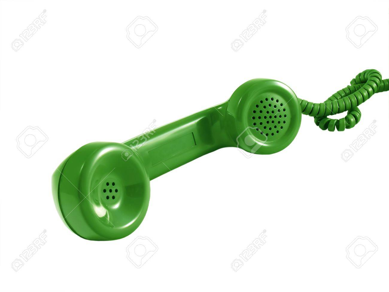 hight resolution of a retro telephone receiver from an old rotary phone stock photo 12952415