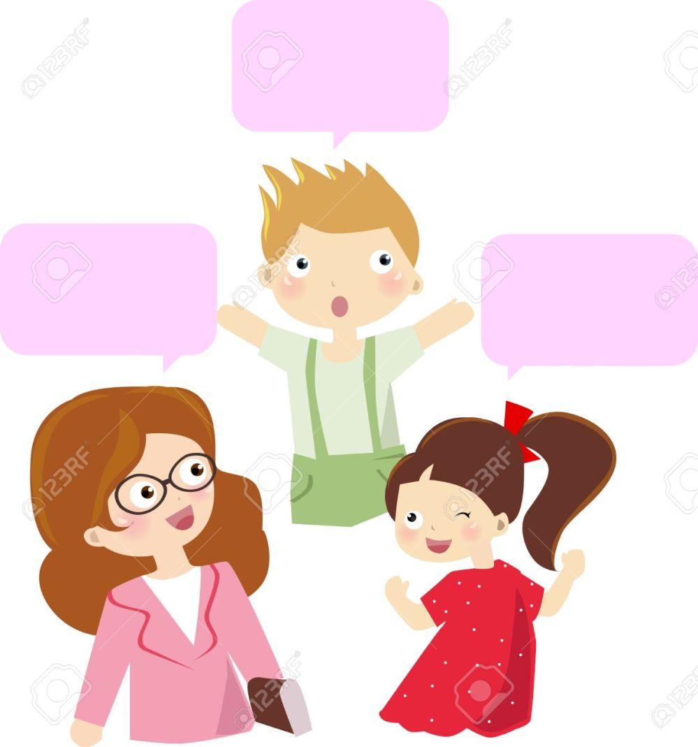 medium resolution of teacher and student talking