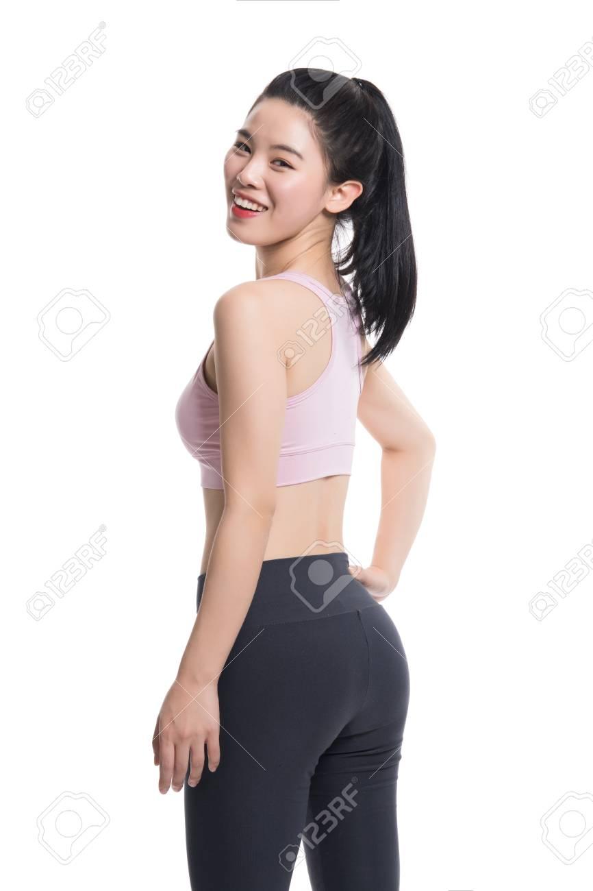 Yoga Pants Asian : pants, asian, Studio, Portrait, Beautiful, Asian, Teacher, With.., Stock, Photo,, Picture, Royalty, Image., Image, 72737274.