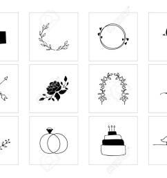 romantic and wedding clipart feminine logo elements stock vector 106784132 [ 1300 x 928 Pixel ]