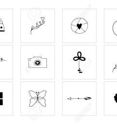 romantic and wedding clipart feminine logo elements stock vector 106784139 [ 1300 x 928 Pixel ]