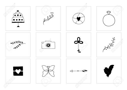 small resolution of romantic and wedding clipart feminine logo elements stock vector 106784139