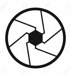 camera shutter aperture icon simple style stock photo 107809798 [ 1300 x 1300 Pixel ]