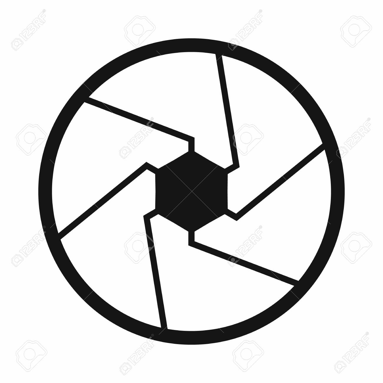 hight resolution of camera shutter aperture icon simple style stock photo 107809798