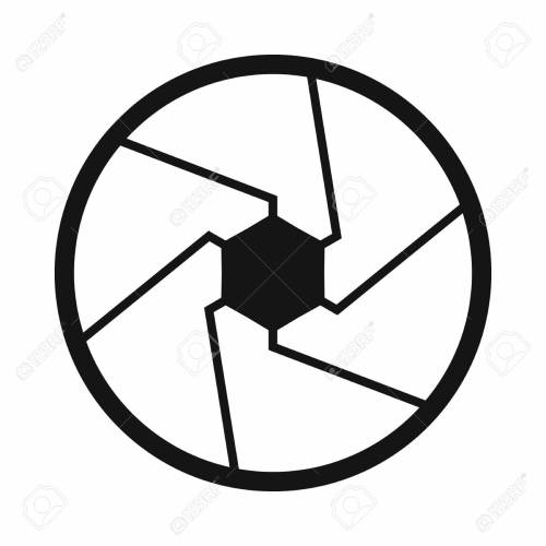 small resolution of camera shutter aperture icon simple style stock photo 107809798