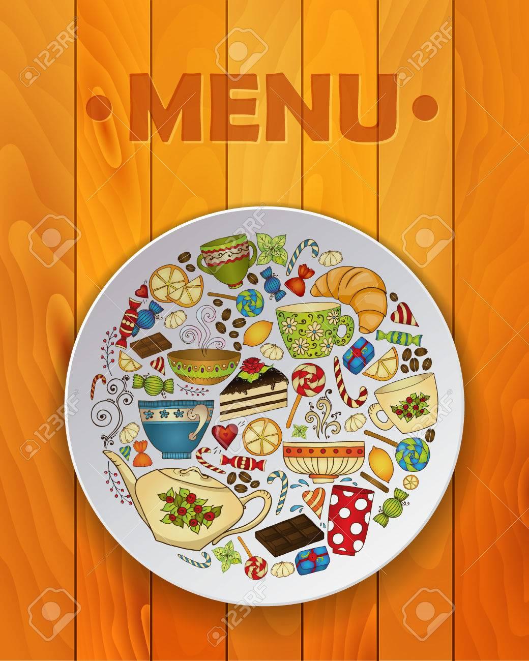 Breakfast Doodles : breakfast, doodles, Coffee, Sketch, Doodles, White, Plate, Restaurant, Menu..., Royalty, Cliparts,, Vectors,, Stock, Illustration., Image, 34480121.