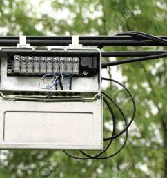 outdoor junction box of telephone cable stock photo picture and outdoor telephone line junction box outdoor telephone wiring box [ 1300 x 866 Pixel ]