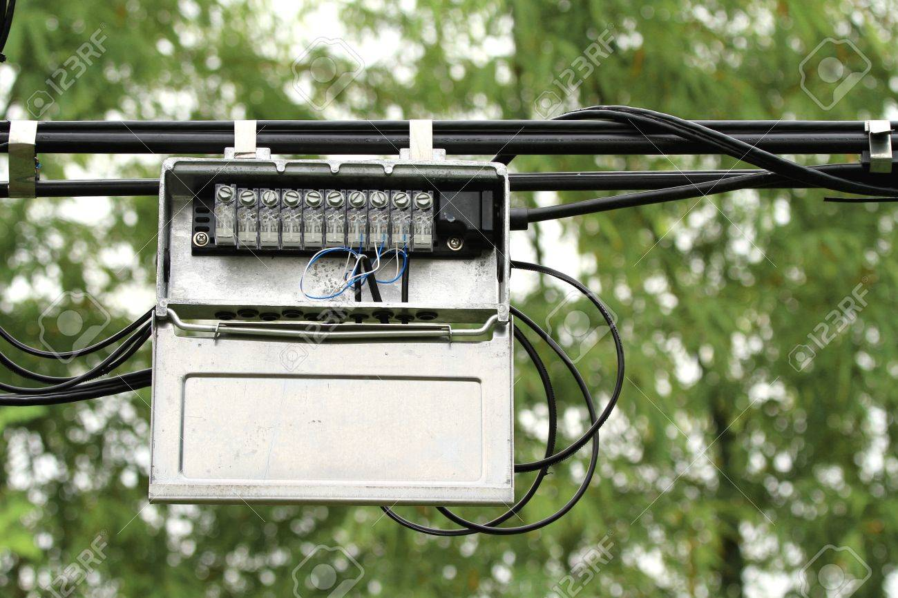 hight resolution of outdoor junction box of telephone cable stock photo picture and outdoor telephone line junction box outdoor telephone wiring box