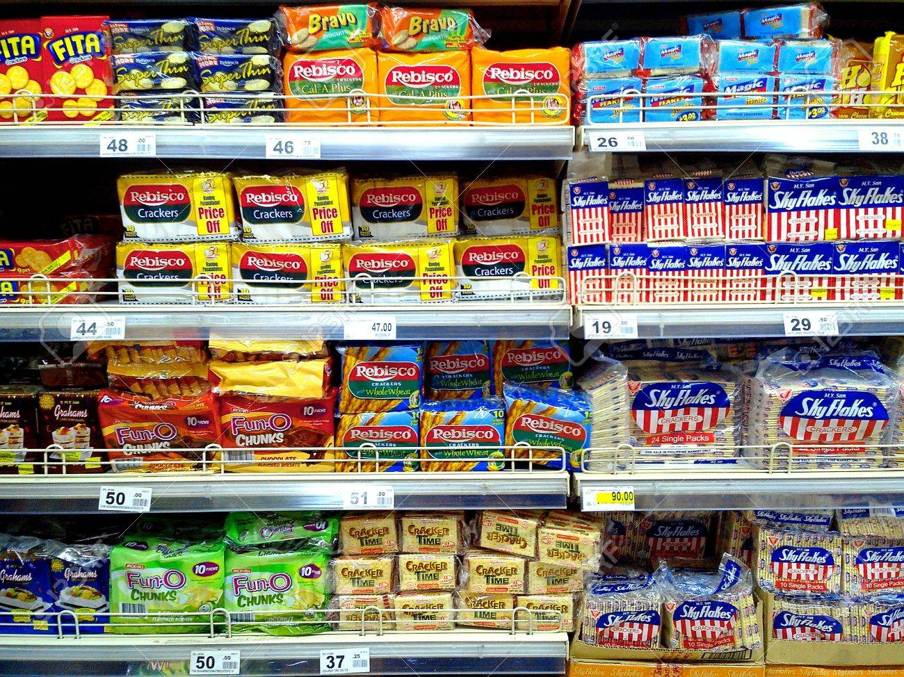 different crackers and biscuits