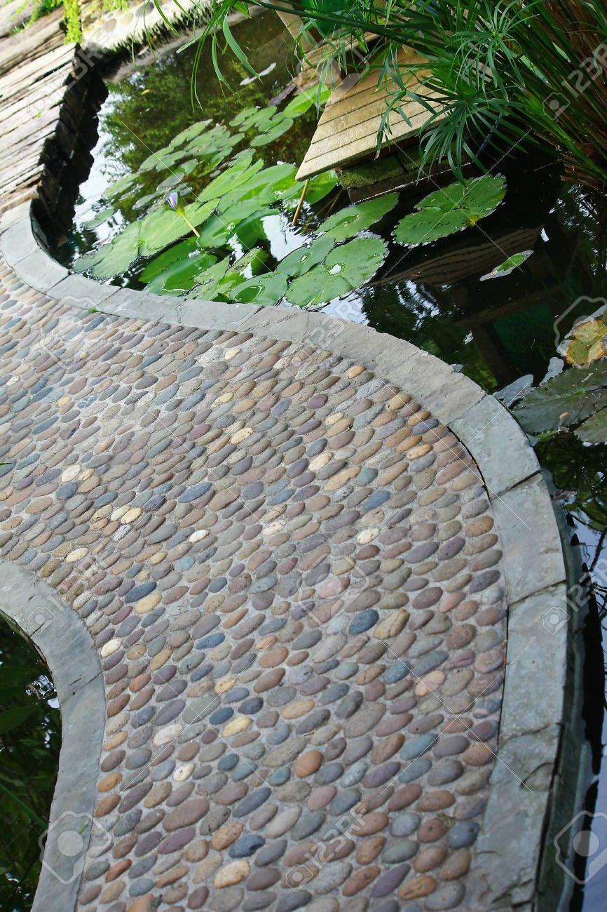 garden stone path over