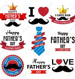 fathers day badge stock vector 32676125 [ 1300 x 1300 Pixel ]