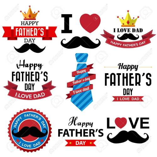 small resolution of fathers day badge stock vector 32676125