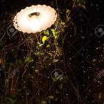 Lamp And Solar Powered String Fairy Lights Outdoor Garden Stock Photo Picture And Royalty Free Image Image 95801071