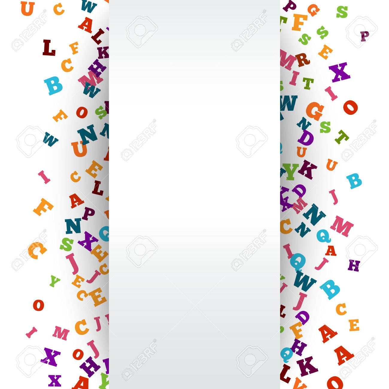abstract colorful alphabet ornament