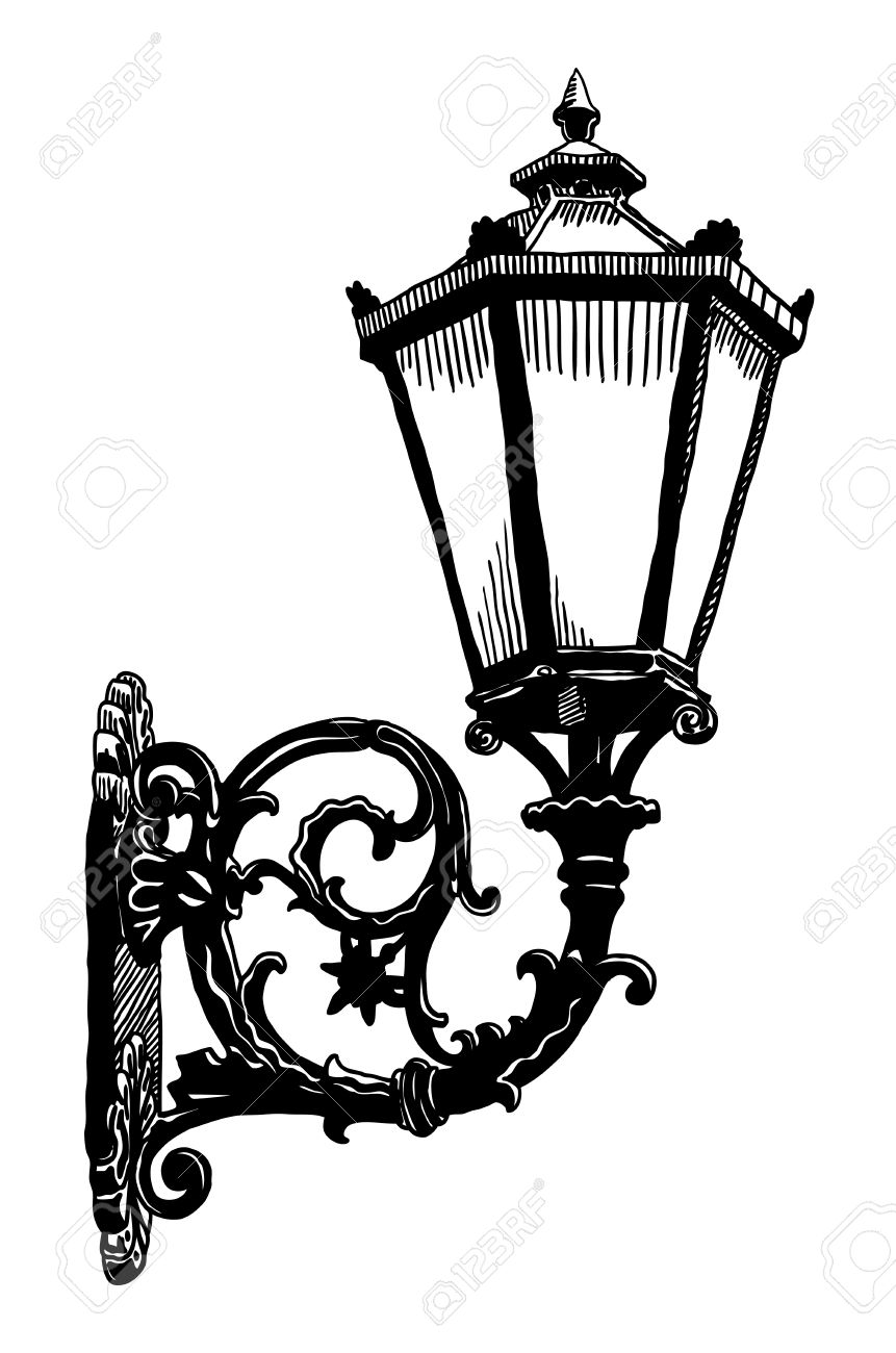Ink Drawing Of Vintage Sketch Design Element Vintage Lantern Royalty Free Cliparts Vectors And Stock Illustration Image 16557031