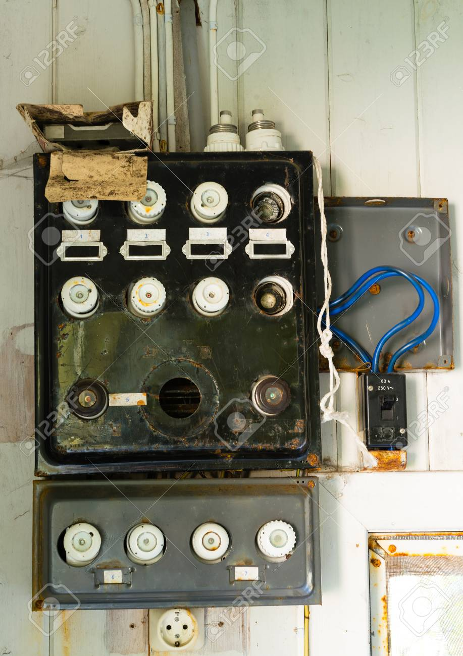 hight resolution of old fuse box in an old abandoned house old out house fuse box short version