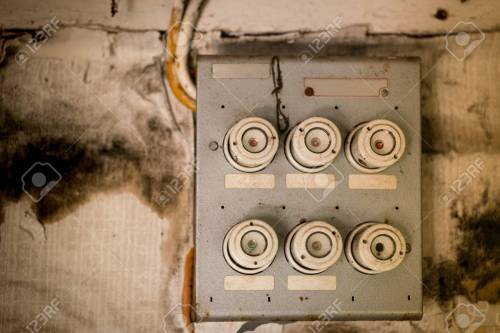 small resolution of old fuse box in an old abandoned house stock photo 81876895