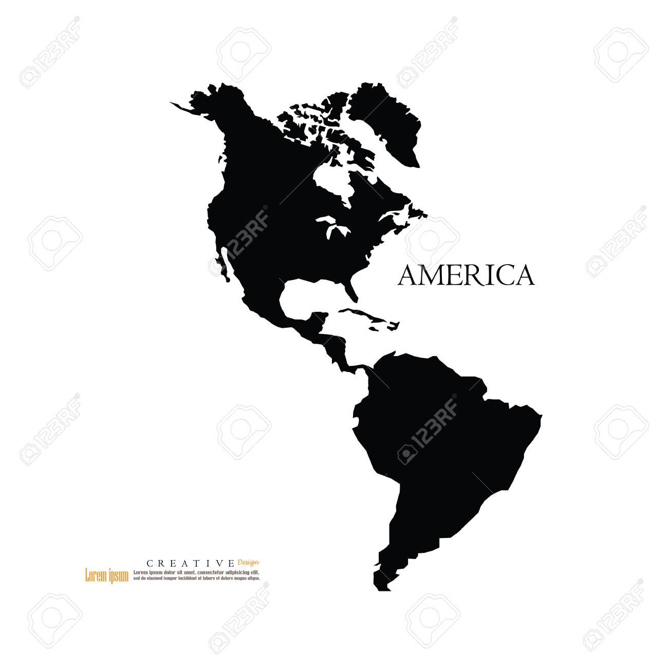 america continent map north