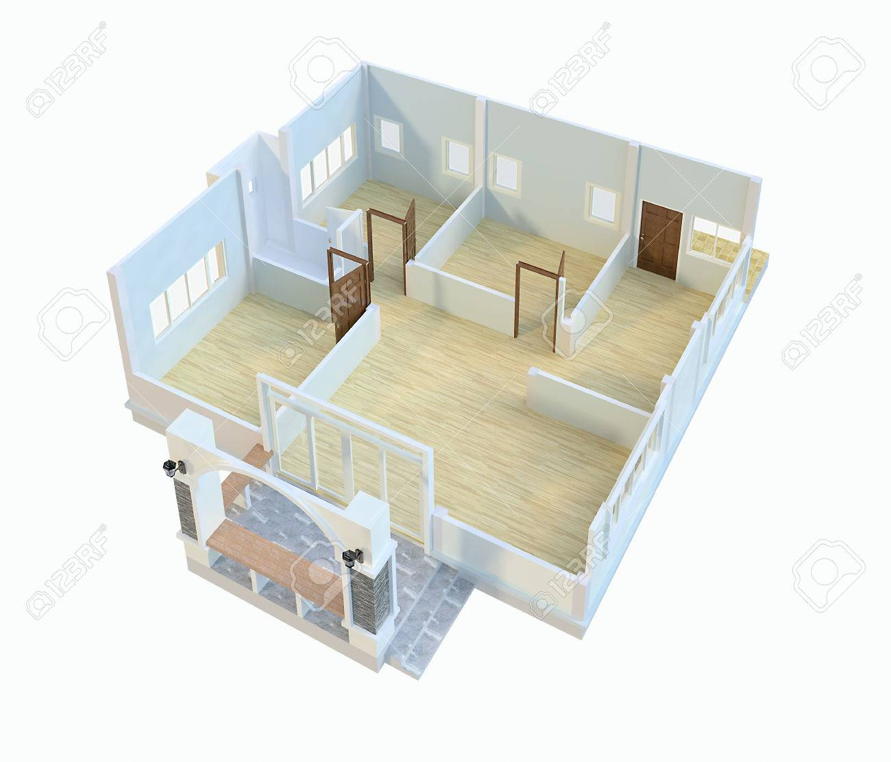 Writing A Modern House Plans Stock Photo Picture And Royalty Free Image Image 40269455