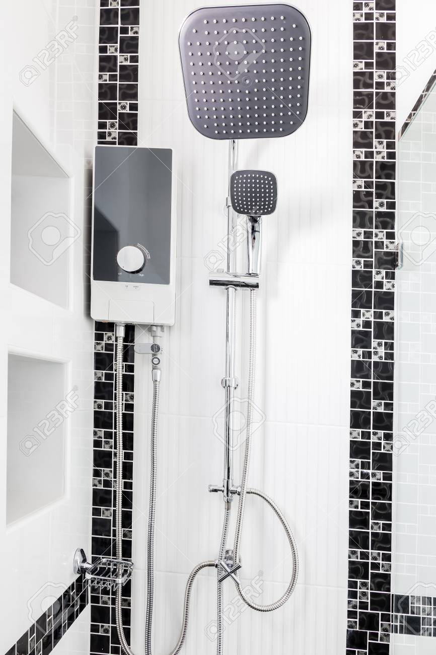 Modern Design Home Water Heater And Showwer Sanitary Ware In Stock Photo Picture And Royalty Free Image Image 96860567