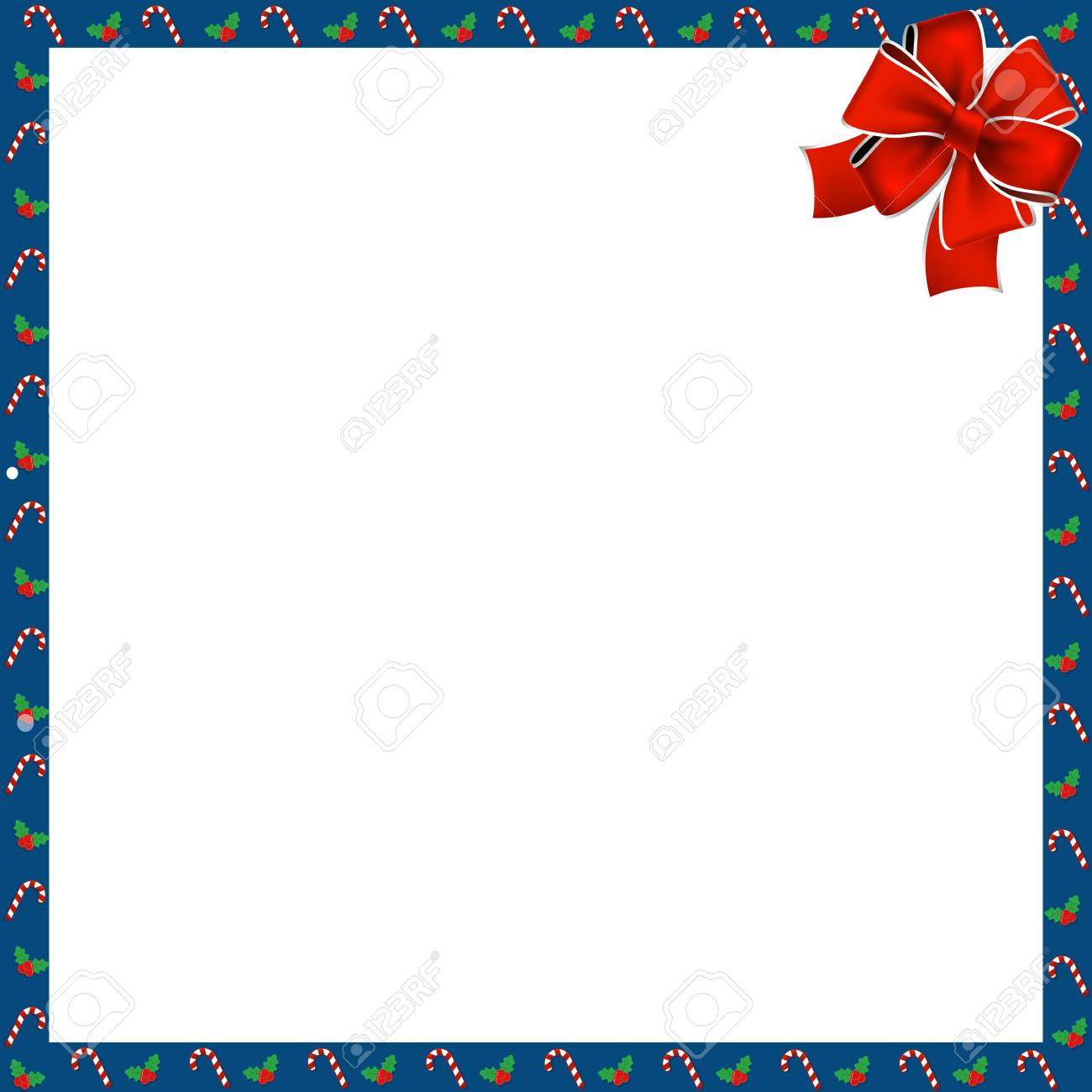 hight resolution of cute christmas or new year border with xmas candy cane and berries pattern and red festive