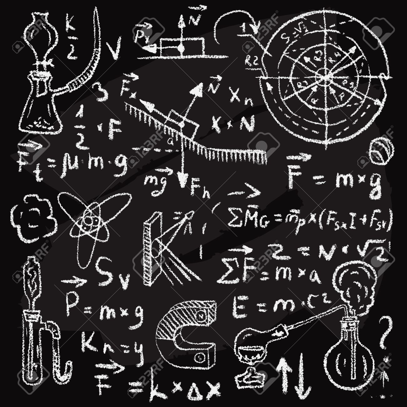 physical formulas graphics and