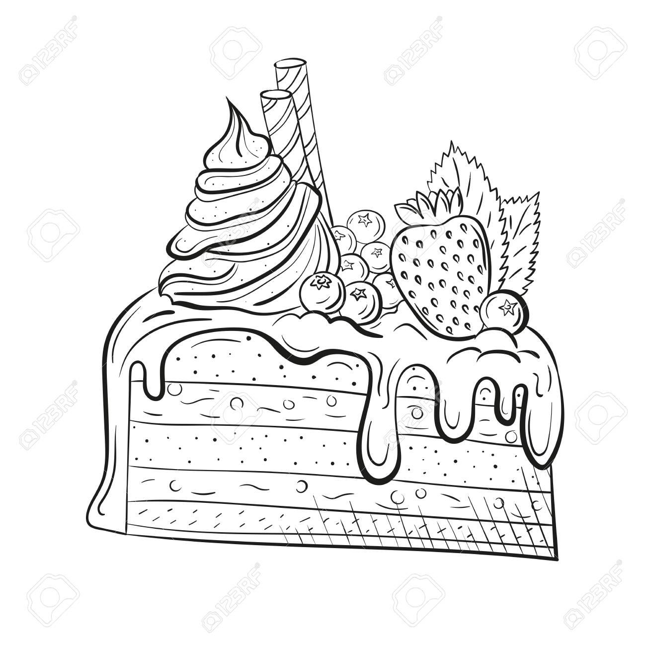 hight resolution of sweet beautiful dessert clipart for a restaurant