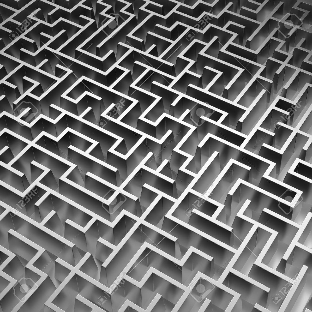 3d maze background abstract
