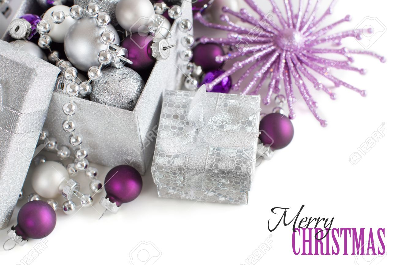Christmas Ornaments White And Silver