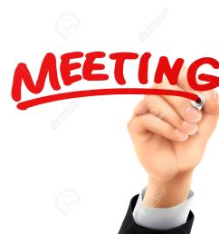 meeting word written by hand on a transparent board stock vector 37137239 [ 1300 x 975 Pixel ]