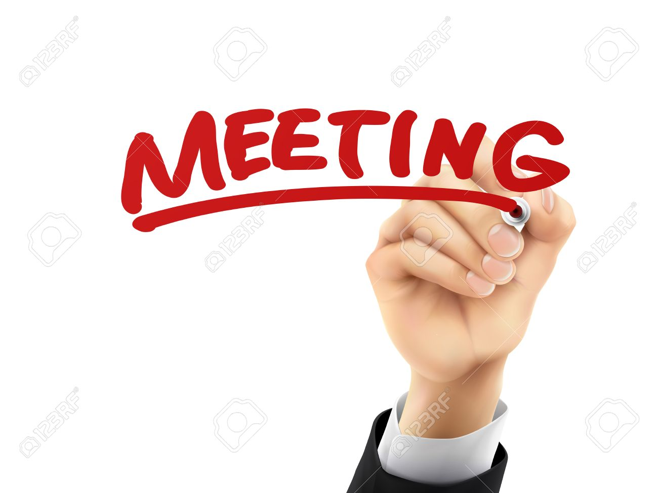 hight resolution of meeting word written by hand on a transparent board stock vector 37137239