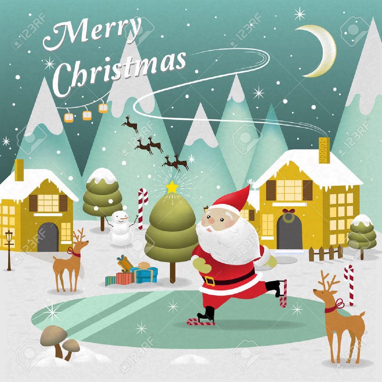 adorable merry christmas scenery