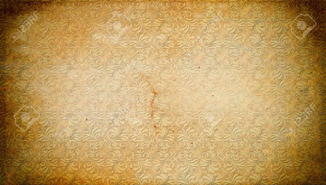 Grunge Old Paper Background With Vintage European Patterns