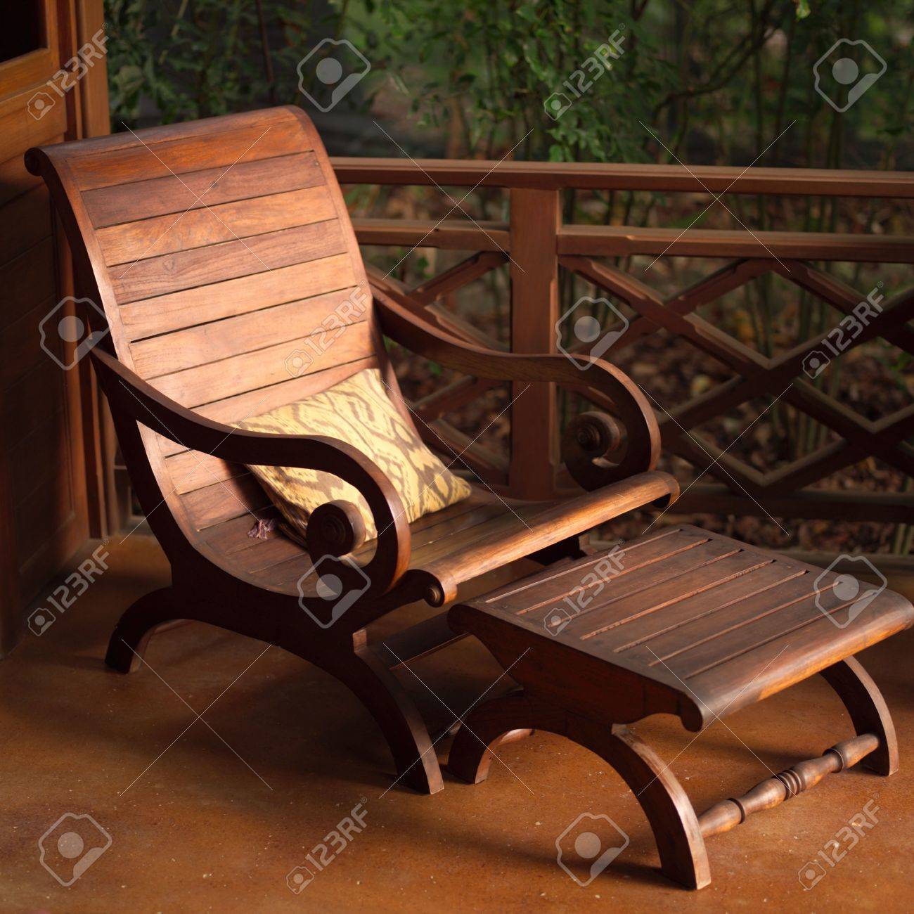 wooden lounge chair palecek dining chairs malpais in costa rica empty stock photo picture 2334766