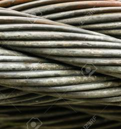 close up of thick braided wire cable horizontal stock photo 108935542 [ 1300 x 866 Pixel ]