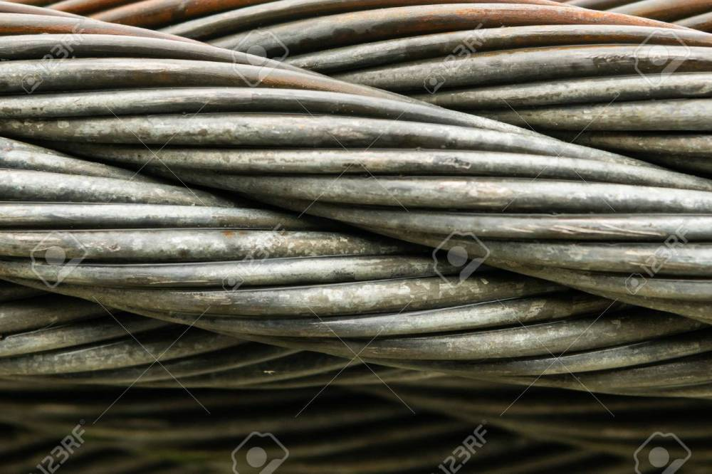 medium resolution of close up of thick braided wire cable horizontal stock photo 108935542