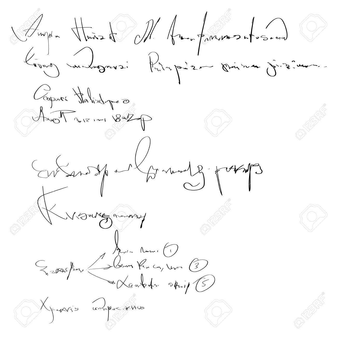 Illegible Handwriting Royalty Free Cliparts Vectors And Stock Illustration Image 84008912