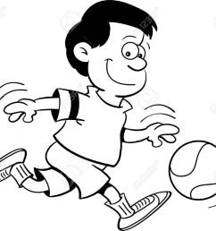 black and white illustration of a boy playing basketball stock vector 15114933 [ 1300 x 1105 Pixel ]