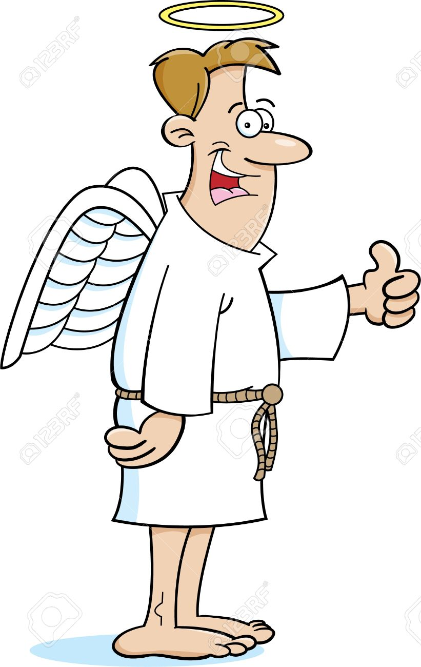 Funny Angel : funny, angel, Cartoon, Illustration, Angel, Royalty, Cliparts,, Vectors,, Stock, Illustration., Image, 17688070.