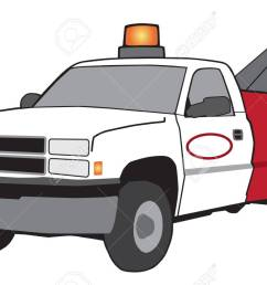 a cartoon tow truck with flashing light and large hook stock vector 96094043 [ 1300 x 827 Pixel ]