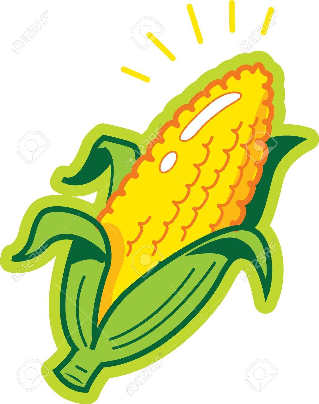 hight resolution of ear of corn stock vector 20687008