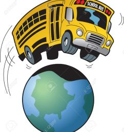 cartoon of a school bus going on a field trip to anywhere in the world stock [ 1153 x 1300 Pixel ]
