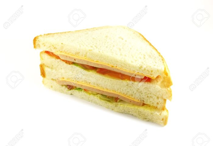 Sandwich Ham And Cheese Classical White Bread Stock Photo Picture