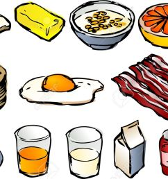 breakfast clipart illustrations vector 3d isometric style bread butter cereal  [ 1300 x 875 Pixel ]