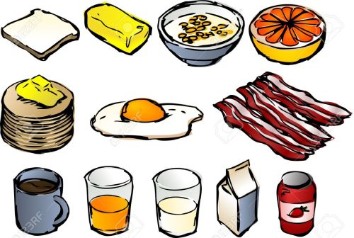 small resolution of breakfast clipart illustrations vector 3d isometric style bread butter cereal