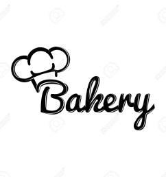 the chef hat bakery label baker badge vector illustration stock vector 67295467 [ 1300 x 1196 Pixel ]
